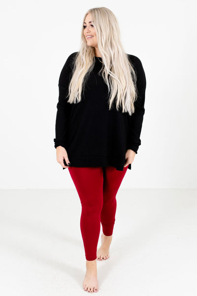 Red Cute and Comfortable Boutique Leggings for Women