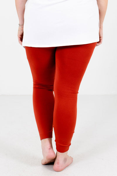 Rust Orange Skinny Slimming Fit Boutique Leggings for Women