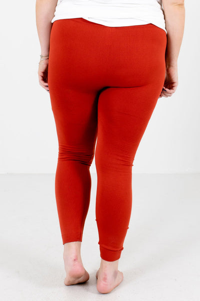 Rust Orange Cute and Comfortable Boutique Leggings for Women
