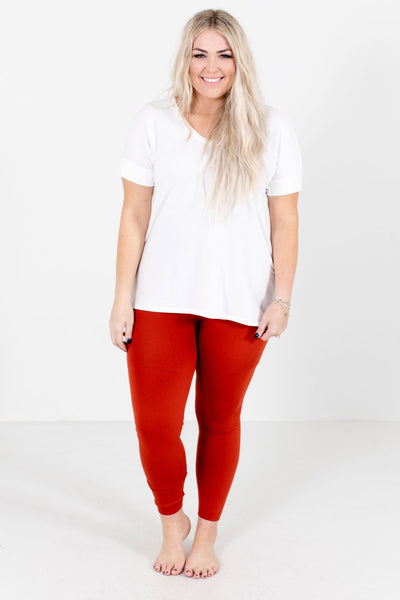Rust Orange Soft High-Quality Boutique Leggings for Women