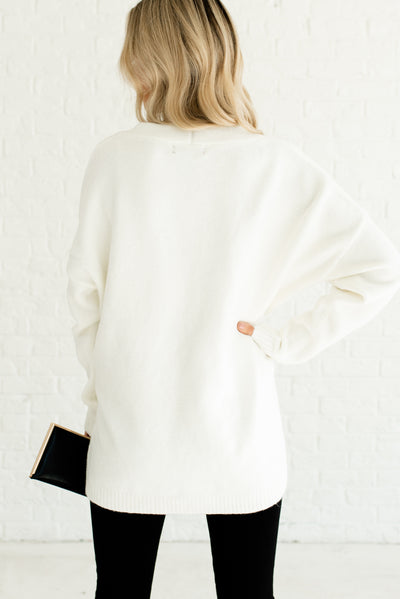 White Soft and Comfortable Women's Cardigans