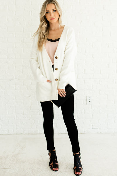 White Dressy Women's Boutique Outerwear