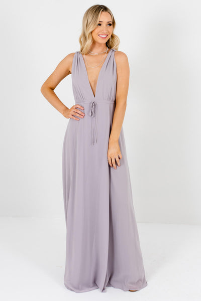Light Gray Thick High-Quality Boutique Maxi Dresses for Women