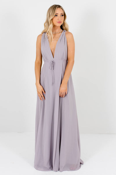 Light Gray Cute and Comfortable Boutique Maxi Dresses for Women