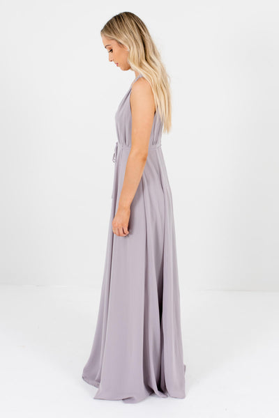 Light Gray Spring and Summer Boutique Bridesmaid Dresses for Women