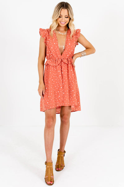 Pink Cream Polka Dot Ruffle Mini Dresses Affordable Online Boutique