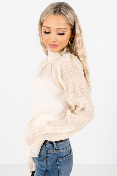 Women's Cream Layering Boutique Blouses for Women