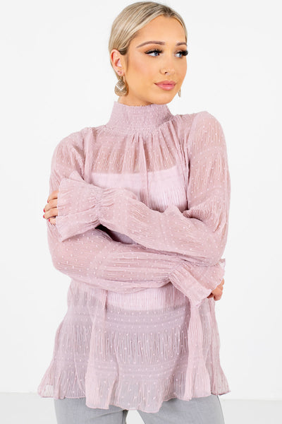 Pink Virago Sleeve Style Boutique Blouses for Women