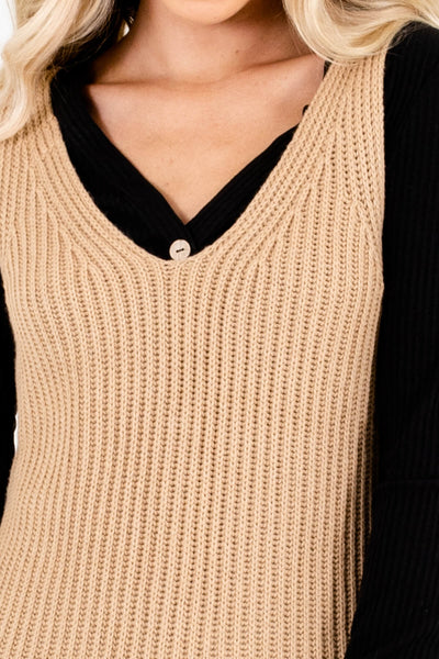 Beige Brown Affordable Online Boutique Clothing for Women