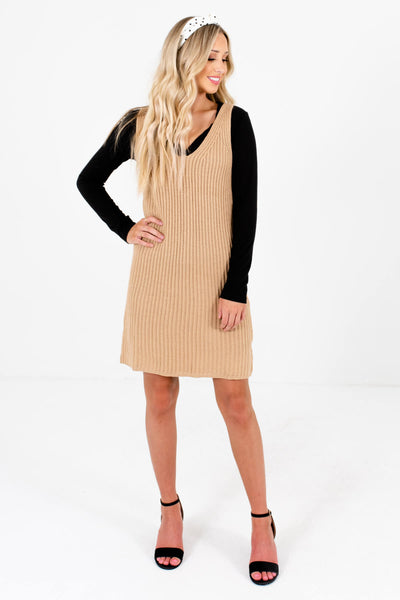 Women's Beige Brown Spring and Summertime Boutique Clothing