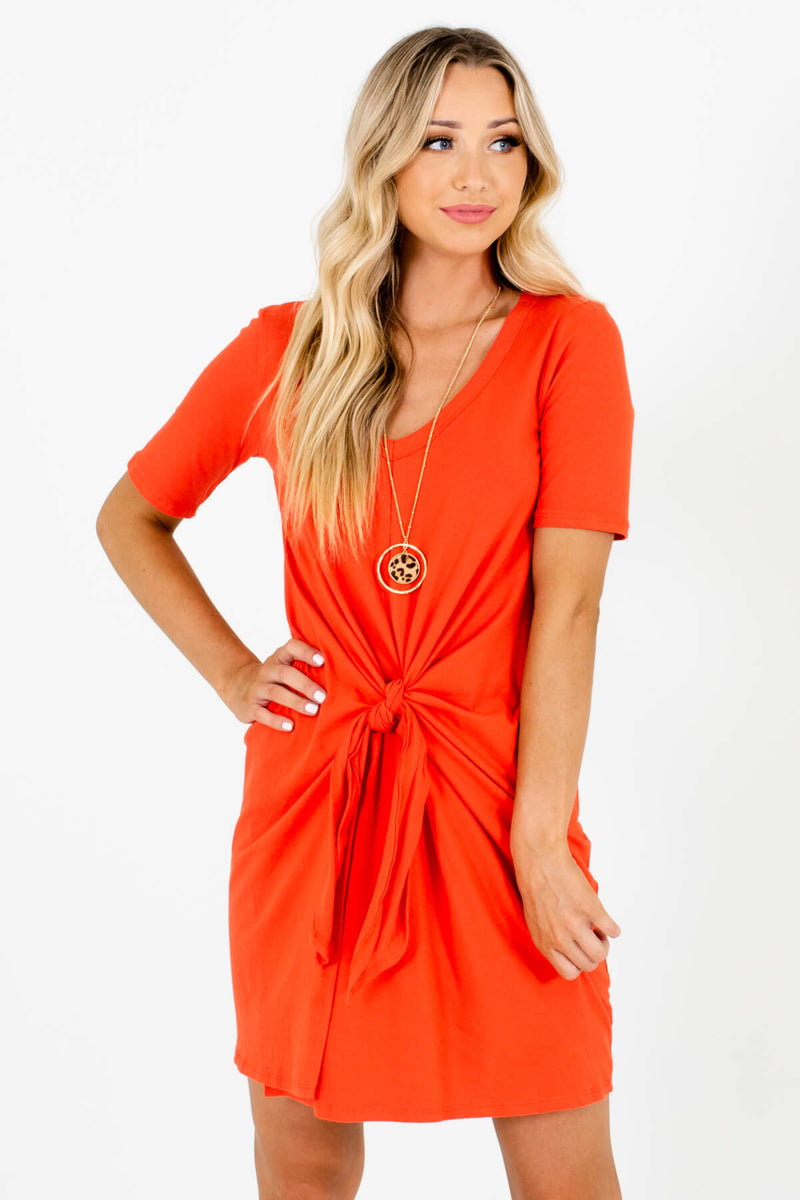 Worry Less Orange Mini Dress