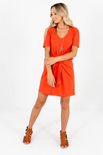 Orange Cute and Comfortable Boutique Dress for Women
