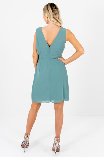 Women's Green Fully Lined Boutique Mini Dress