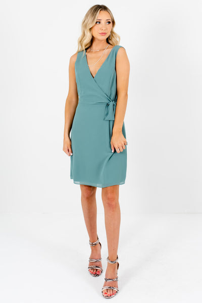 Green Cute and Comfortable Boutique Mini Dresses for Women