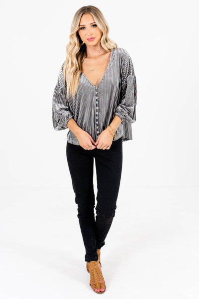 Women's Silver Gray Fall and Winter Boutique Clothing