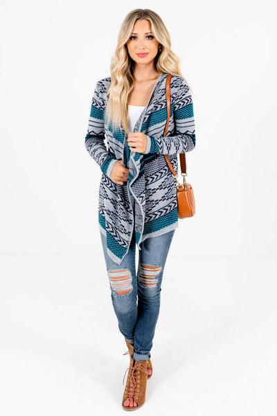 Women's Blue Boutique Outerwear