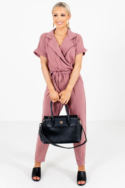 Mauve Cute and Comfortable Boutique Jumpsuits for Women