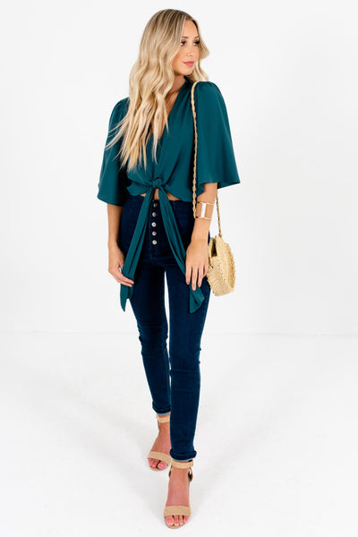 Women's Emerald Green Fall and Winter Boutique Clothing