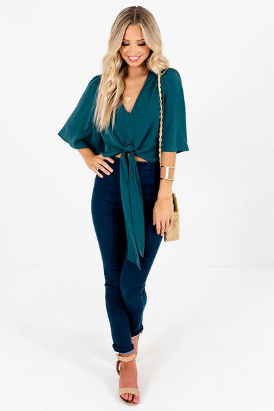 Emerald Green Cute and Comfortable Boutique Tops for Women