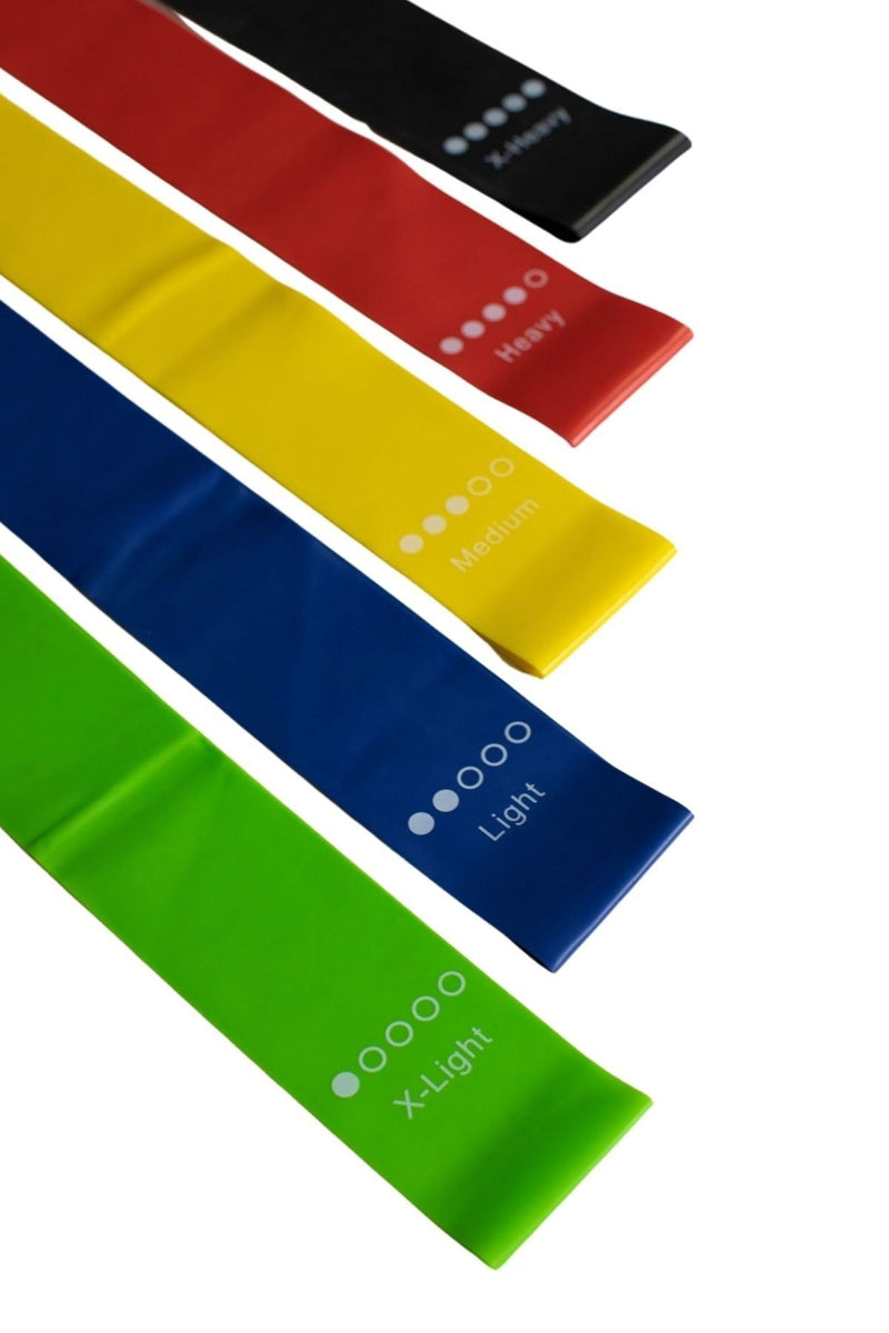 5 Piece Multicolored Resistance Bands