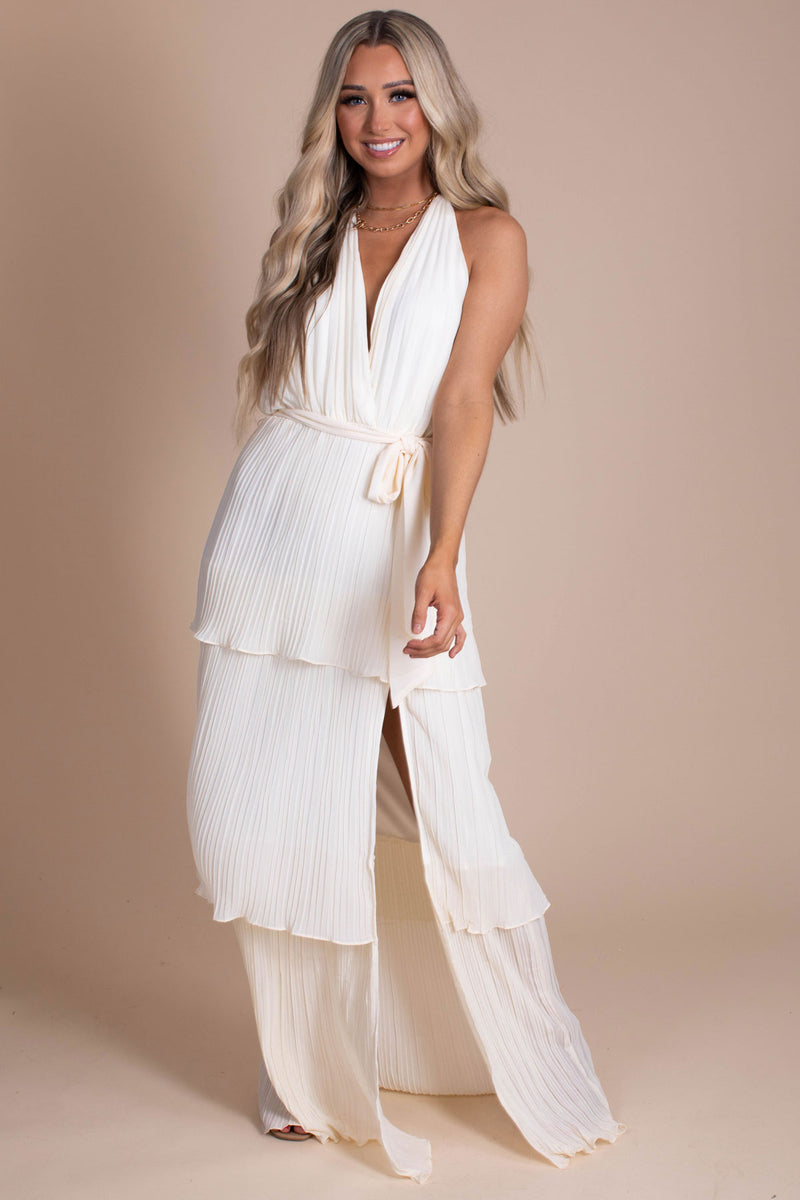 Be Enthralled Maxi Dress - Off White