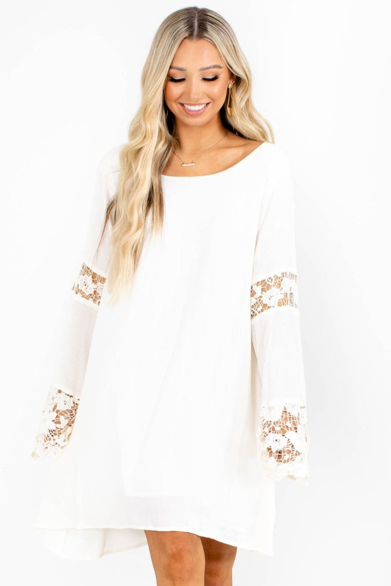 Bohemian Dream Mini Dress - White