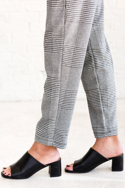 Black Plaid Cute Pants for the Office or a Night Out Business Casual