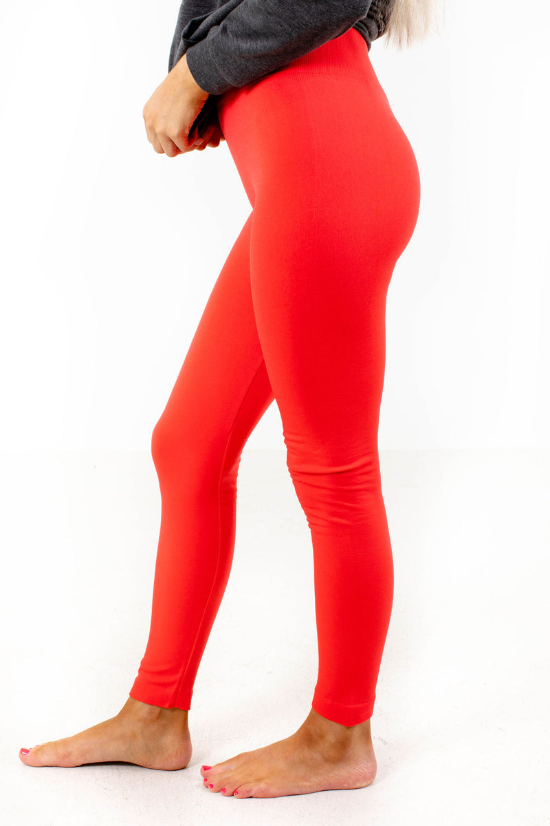 Check It Out Coral Leggings