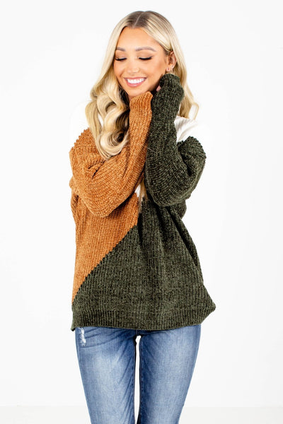 Women's Green Cozy and Warm Boutique Sweater