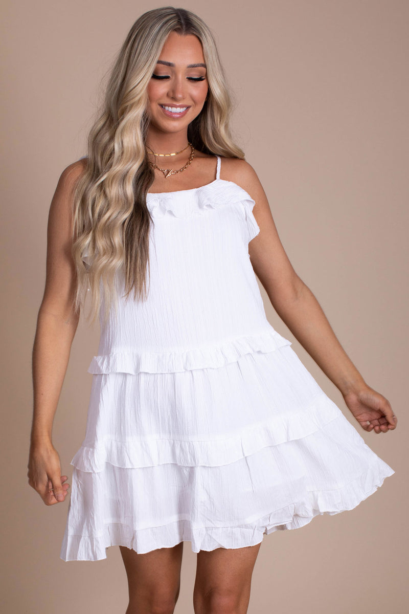 Embrace Love Tiered Mini Dress