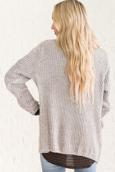 Light Gray Oversized Cardigan