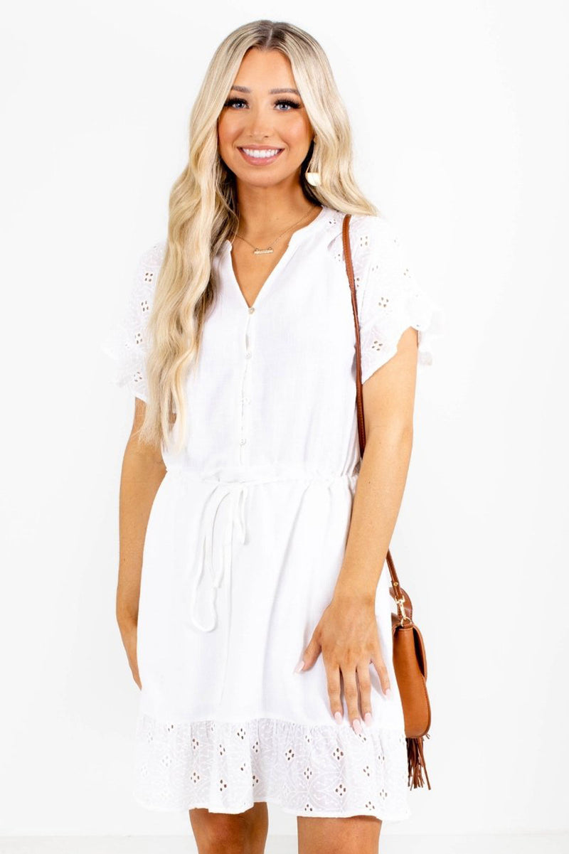 Fine & Dandy Mini Dress - White
