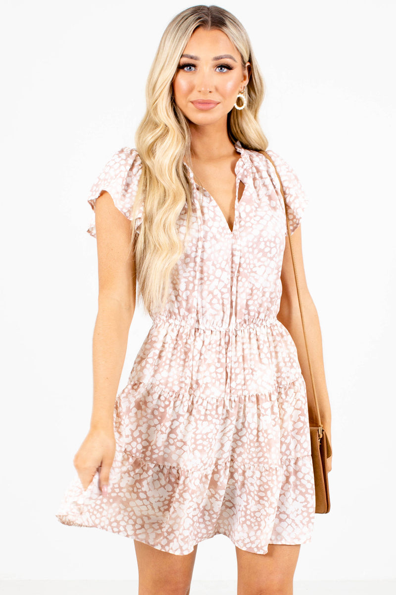 Go Wander Spotted Mini Dress