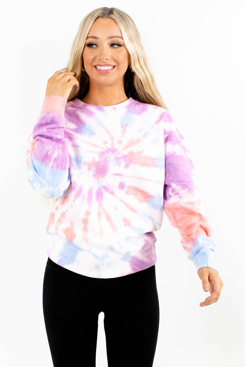 Good Vibrations Long Sleeve Tie-Dye Top