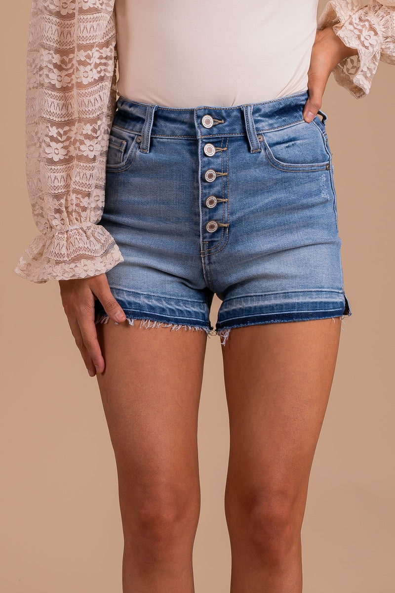 Happy Thoughts KanCan Denim Shorts - Blue