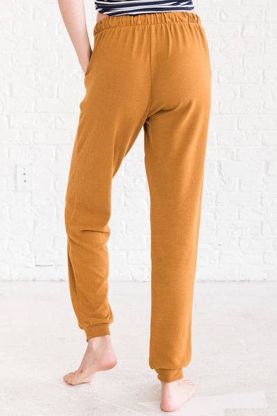 Mustard Yellow Cute Cozy Sweatpants Joggers for Winter Cozy Warm Clothing