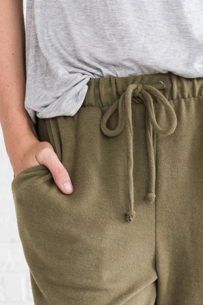Olive Green Cozy Soft Best Joggers for Winter Cozy Warm Clothing