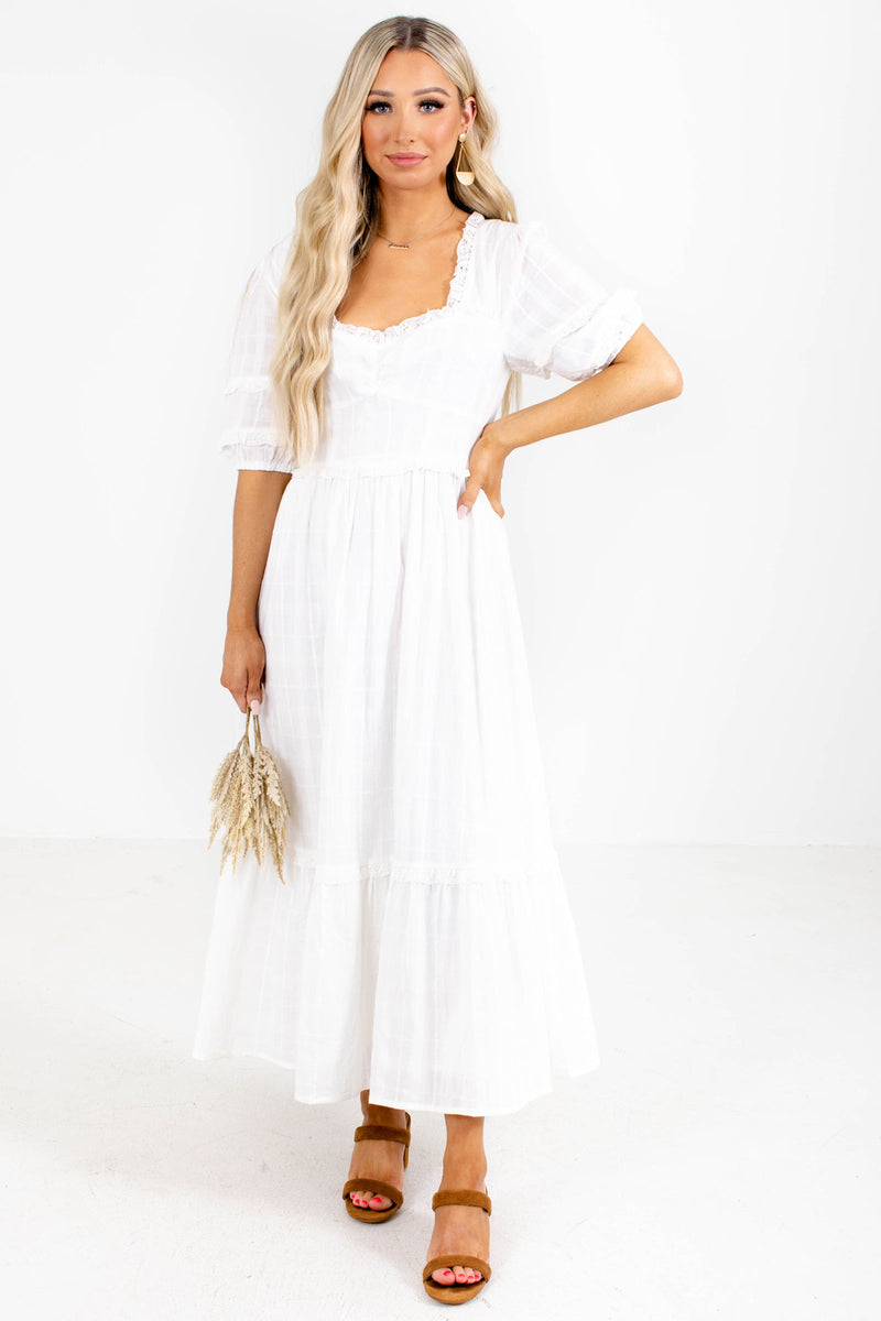 Hello Darling Maxi Dress - White