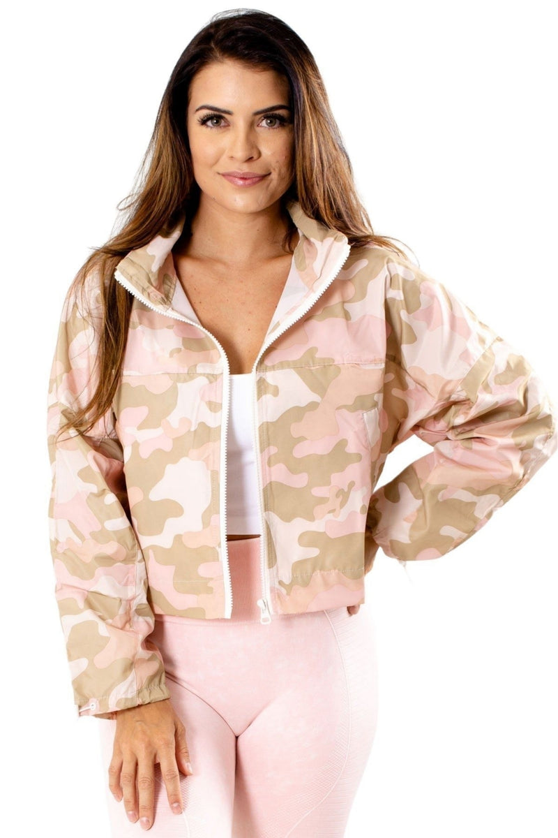 Camo Zip-Up Windbreaker