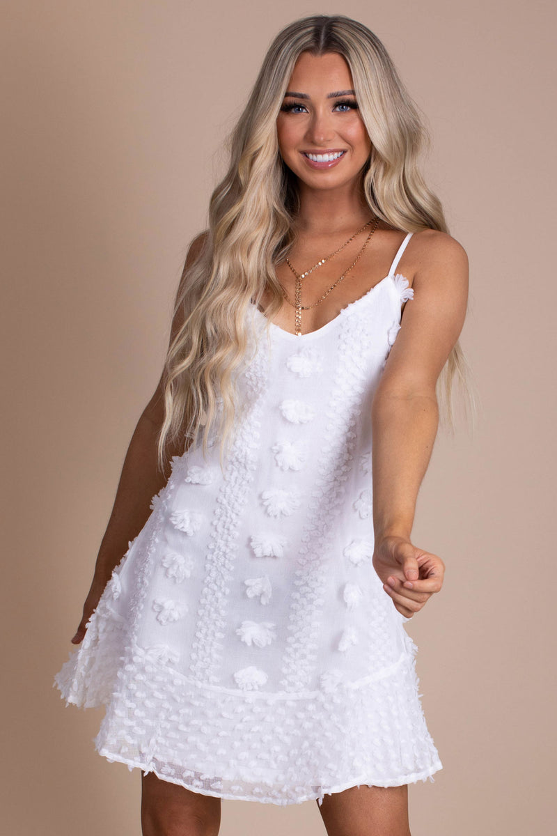 Last First Kiss Textured Mini Dress