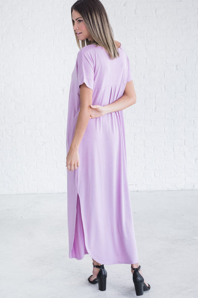 Lavender Purple Cute Boutique Maxi Dresses for All Seasons