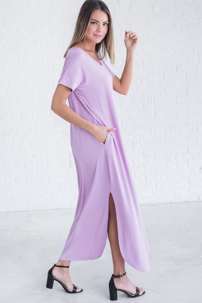 Lavender Lilac Purple Maxi Dresses from Affordable Online Boutique