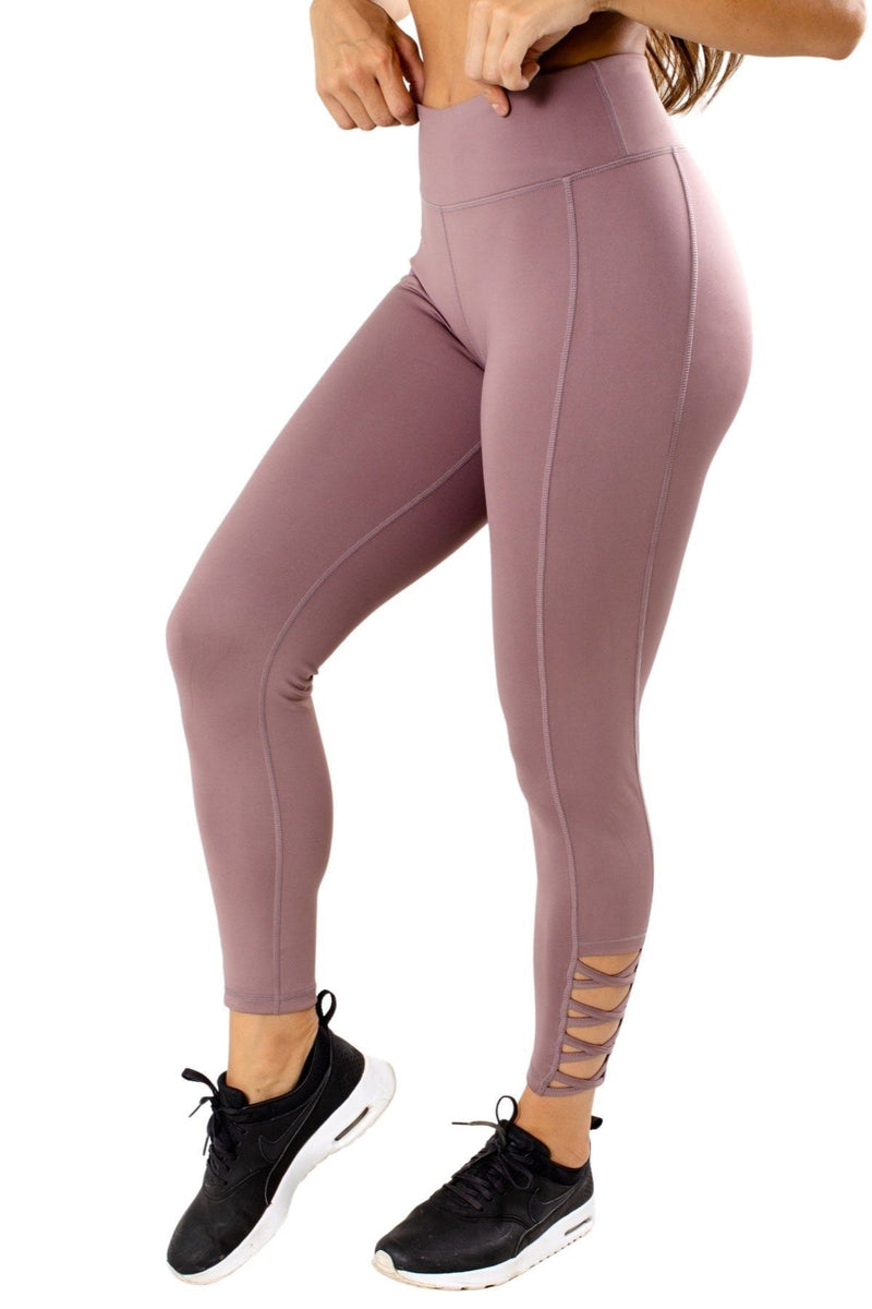 High Waisted Lattice Legging