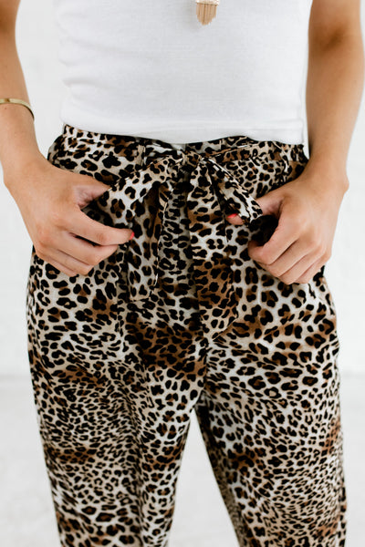 Leopard Animal Print Business Slacks Pants for Women Boutique