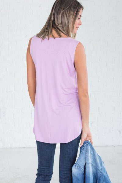 Lavender Lilac Purple Cute Soft Tank Tops for Women