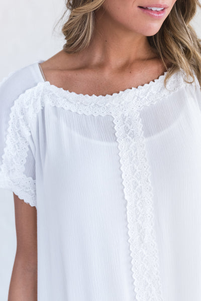 white boutique top
