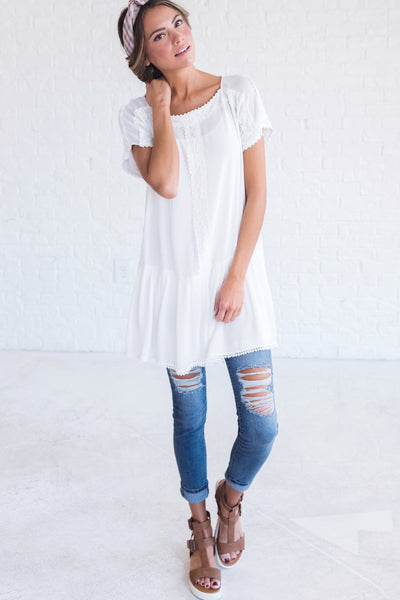 boutique top with flowy silhouette