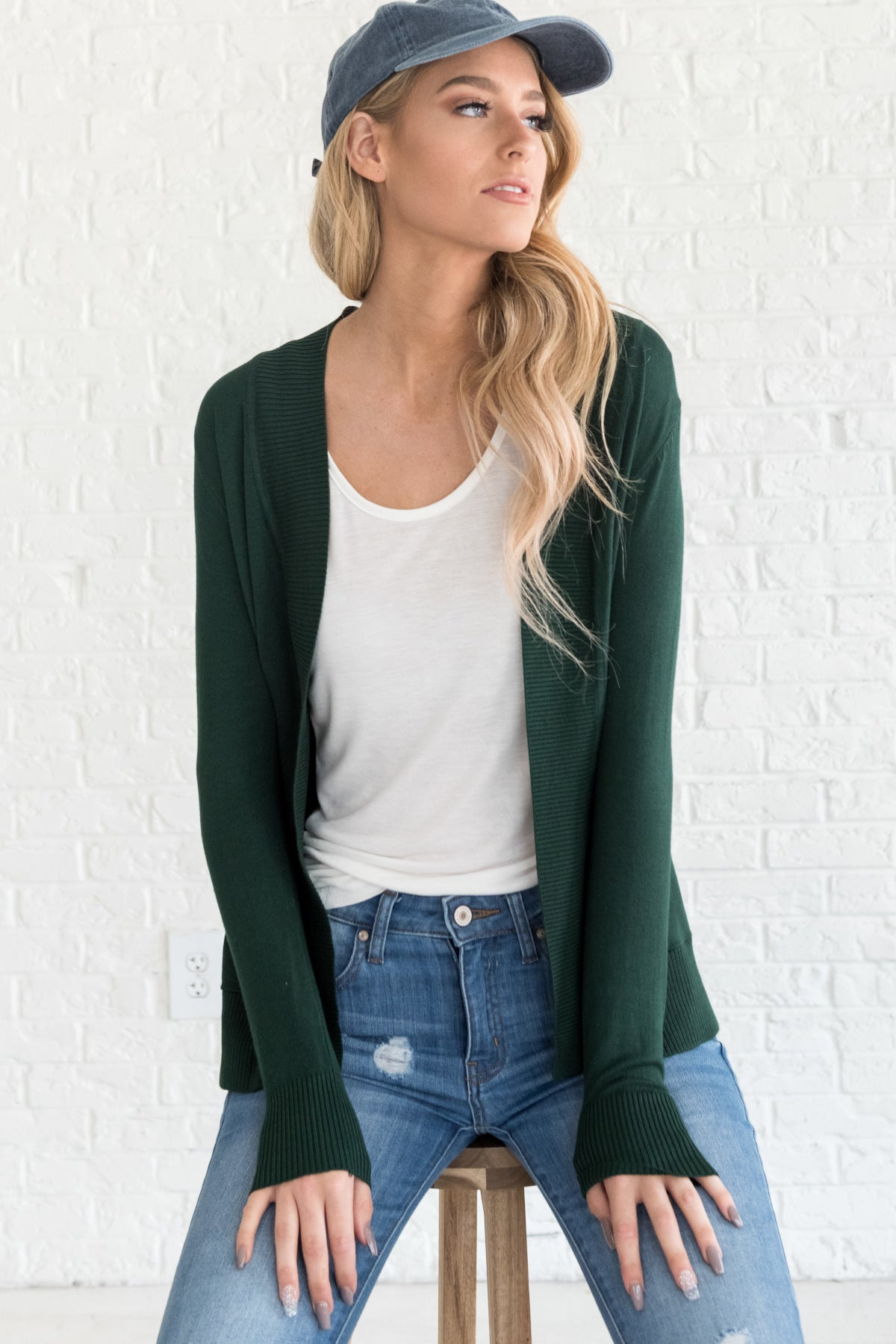 Emerald Green Lightweight Summer Cardigans
