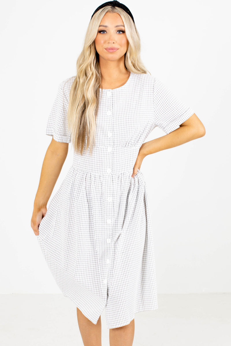 My Best Side Patterned Midi Dress