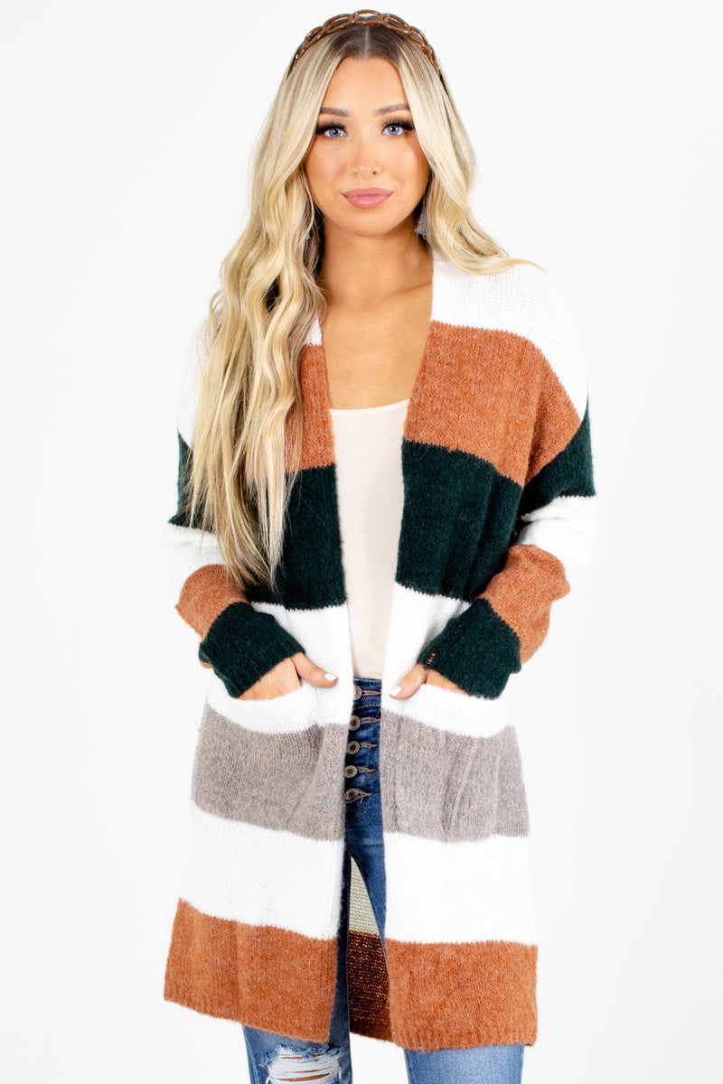 Night Drive Long Striped Cardigan